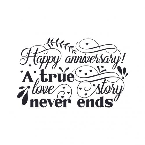 Happy Anniversary A true love story never ends