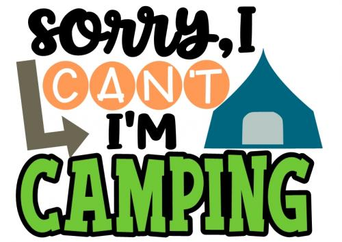 Camping Sublimation Design